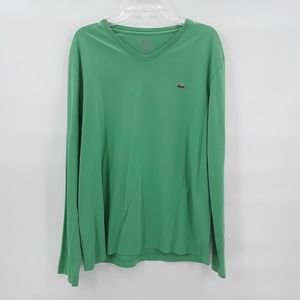 Vintage Lacoste long sleeve green t shirt